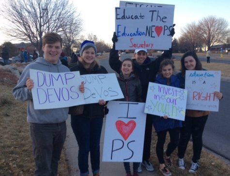 Students protest outside senator's office in response to DOE nominee