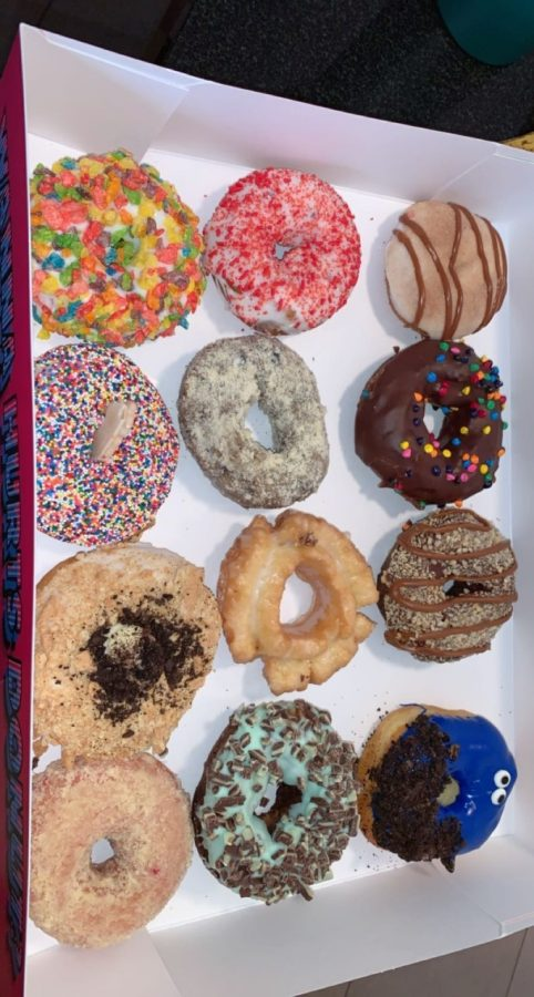 The Hurts Dozen can be filled with any type of donut.