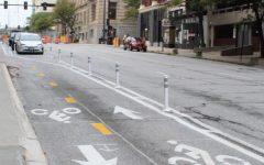 Harney Street bike lane protects cyclists