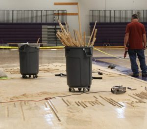 Gym floors cause volleyball chaos